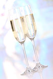 Pair glasses of champagne Stock Photo