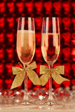 Pair glasses of champagne Royalty Free Stock Images