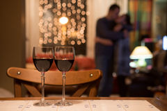 Pair of glasses of red wine Royalty Free Stock Image