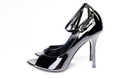 Pair of glossy shoes royalty free stock images
