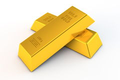 Pair of Gold Bars. A pair of gold bars on white background - embossed details vector illustration