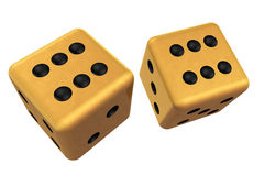 Pair of Gold Dice Stock Photos