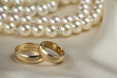 Pair of Gold Rings Stock Photography