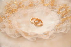 Pair of Gold Wedding  Rings Stock Photography