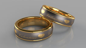 Pair of golden rings Stock Images
