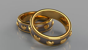 Pair of golden rings Royalty Free Stock Photography