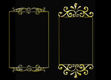Pair of golden vector frames Royalty Free Stock Image