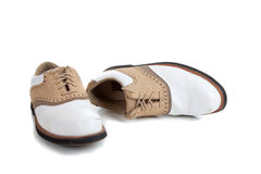 A pair of golf shoes on white Stock Images