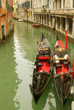Pair of gondola boats in Venice Stock Image