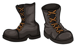 A pair of gray boots Stock Images