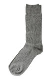 Pair of gray socks. Isolated on a white background Stock Photography