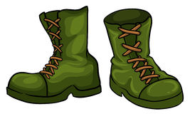 A pair of green boots Royalty Free Stock Image
