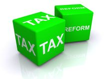 Tax reform cubes Stock Photo