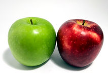 A pair of Green and Red Apple Royalty Free Stock Photos