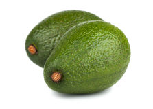 Pair of green ripe avocado Stock Images
