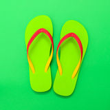 Pair of green sandal Stock Photography