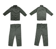 Pair of green work wear. Royalty Free Stock Photos