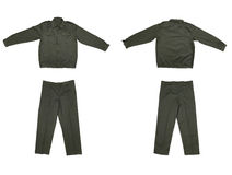 Pair of green work wear. Royalty Free Stock Image