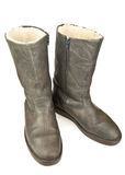 Pair of grey boots Stock Image
