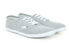 Pair of grey shoes Stock Image