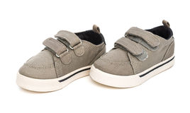 Pair of grey shoes Stock Photography