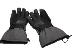 Pair of grey snowboard gloves Royalty Free Stock Image