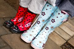 Pair of gumboots Stock Photo