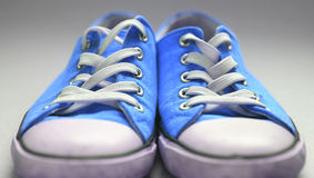 Pair of gym shoes. Pair of used gym shoes Royalty Free Stock Images