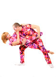 Pair of gymnasts. A pair of gymnasts in colorful stage costumes Stock Photography