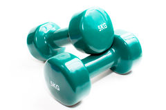 Pair of hand weights dumbbells isolated on a white Stock Photo