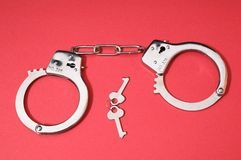 Pair of Handcuffs Stock Photos