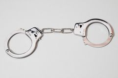 Pair of Handcuffs Royalty Free Stock Image
