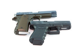 Pair Handgun Royalty Free Stock Photos