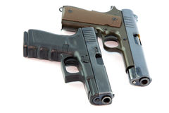 Pair Handguns Royalty Free Stock Photos