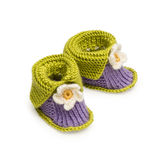 Handmade baby Shoes Stock Photography