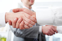 Pair of handshakes Royalty Free Stock Photos