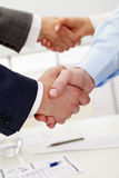 Pair of handshakes Stock Photo