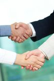 Pair of handshakes Stock Photos