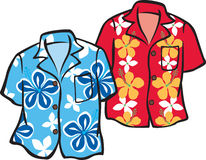 Pair of Hawaiian Aloha Shirts Stock Photography