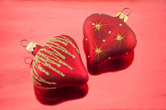 Pair hearts Royalty Free Stock Photo