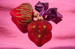 Pair hearts Stock Photo
