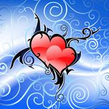 Pair of hearts in tribal art s Stock Photography