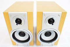 A pair of hi-fi speakers Stock Photo