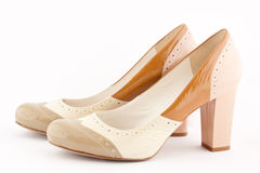 A pair of high heel shoe. On a white background Royalty Free Stock Photos