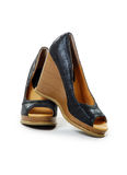 Pair of high heel wedge shoe Royalty Free Stock Image