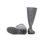 Pair high rubber boots. Royalty Free Stock Photos