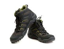 Pair of high-tech waterproof winter boots trekking. Stock Photo