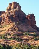 A Pair of Hikers Descend Bell Rock. Near Oak Creek Village, South of Sedona, Arizona Royalty Free Stock Photos