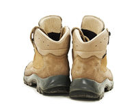 A pair of hiking boots from the back Royalty Free Stock Image