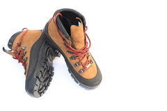 Pair of hiking boots Stock Photos